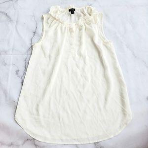 Ann Taylor chiffon sleeveless blouse
